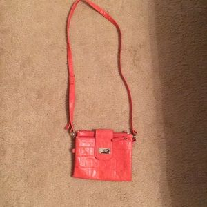 Nine west salmon foldover purse